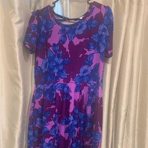 Lularow Amelia Purple Floral Sz Large Dress